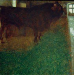 """Gustav Klimt """"Der schwarze Stier"""" 80 x 80 cm"""