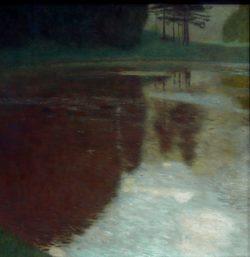 """Gustav Klimt """"Morgen am Teiche"""" 75 x 75 cm"""