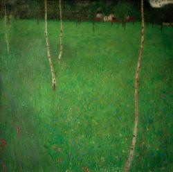 """Gustav Klimt """"Bauernhaus mit Birken (Junge Birken)"""" 81 x 80 cm"""