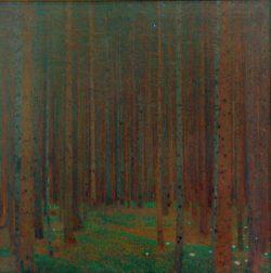 """Gustav Klimt """"Tannenwald I"""" 90 x 91 cm"""
