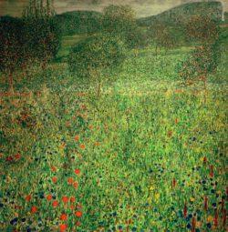 """Gustav Klimt """"Gartenlandschaft"""" 99 x 99 cm"""