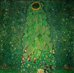 """Gustav Klimt """"Die Sonnenblume"""" 110 x 110 cm"""