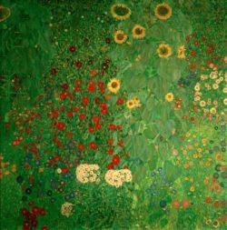 """Gustav Klimt """"Bauerngarten mit Sonnenblumen"""" 110 x 110 cm"""