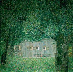 """Gustav Klimt """"Oberösterreichisches Bauernhaus"""" 110 x 110 cm"""