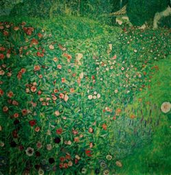 "Gustav Klimt ""Italienische Gartenlandschaft"" 110 x 110 cm"