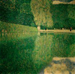 """Gustav Klimt """"Schönbrunner Park"""" 110 x 110 cm"""