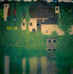 """Gustav Klimt """"Schloß Kammer am Attersee I (Wasserschloss)"""" 110 x 110 cm"""