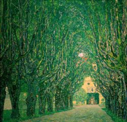 """Gustav Klimt """"Allee im Park von Schloß Kammer"""" 110 x 110 cm"""