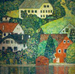 """Gustav Klimt """"Häuser in Unterach am Attersee"""" 110 x 110 cm"""