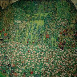 """Gustav Klimt """"Gartenlandschaft mit Bergkuppe"""" 110 x 110 cm"""