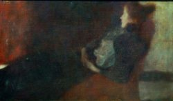 "Gustav Klimt ""Dame am Kamin"" 66 x 41 cm"