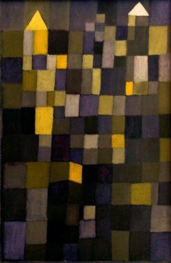 "Paul Klee ""Architektur"" 39 x 89 cm"