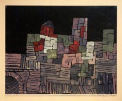 """Paul Klee """"Altes Gemäuer, Sizilien"""" 28 x 22 cm"""