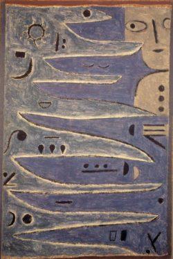 """Paul Klee """"Der Graue und die Küste"""" 71 x 105 cm"""