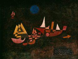 """Paul Klee """"Abfahrt der Schiffe"""" 66 x 51 cm"""