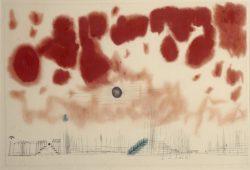 """Paul Klee """"Gewölk über Bor"""" 46 x 31 cm"""