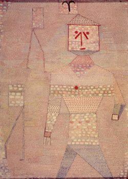 """Paul Klee """"Barbarenfeldherr"""" 41 x 56 cm"""