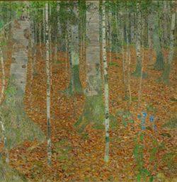 """Gustav Klimt """"Birkenwald"""" 110 x 110 cm"""