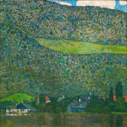 """Gustav Klimt """"Unterach am Attersee"""" 110 x 110 cm"""