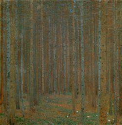 """Gustav Klimt """"Kiefernwald"""" 89 x 90 cm"""