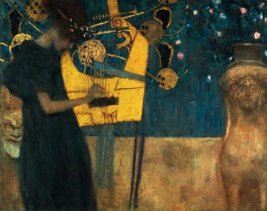 "Gustav Klimt ""Die Musik"" 45 x 37 cm 1"