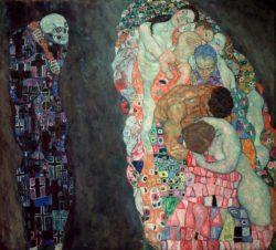 """Gustav Klimt """"Tod und Leben"""" 198 x 178 cm"""