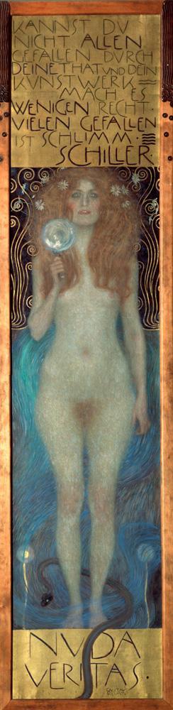 """Gustav Klimt """"Nuda Veritas"""" 56 x 252 cm"""