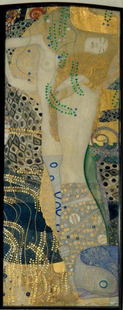 """Gustav Klimt """"Wasserschlangen I """" 20 x 50 cm"""