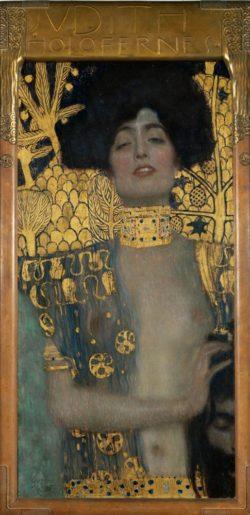 """Gustav Klimt """"Judith mit Haupt des Holofernes"""" 42 x 84 cm"""