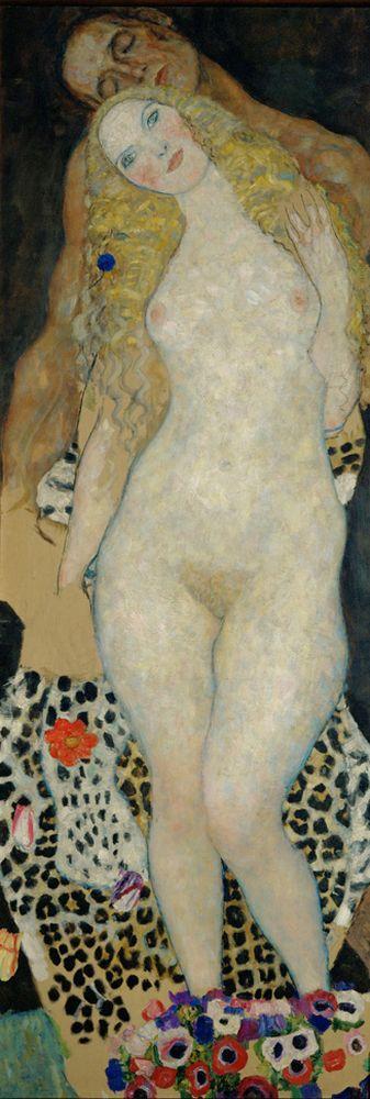 """Gustav Klimt """"Adam und Eva"""" 60 x 173 cm 1"""