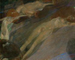 """Gustav Klimt """"Bewegtes Wasser"""" 65 x 52 cm"""
