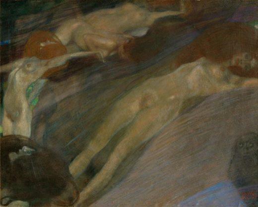 """Gustav Klimt """"Bewegtes Wasser"""" 65 x 52 cm 1"""