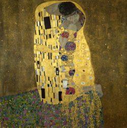"""Gustav Klimt """"Der Kuß"""" 180 x 180 cm"""