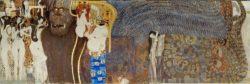"""Gustav Klimt """"Beethovenfries – Die feindlichen Gewalten (Ausschnitt)"""" 636 x 216 cm"""