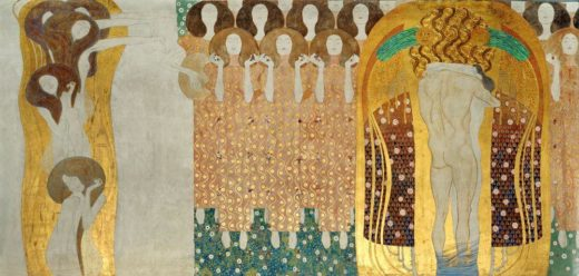 "Gustav Klimt ""Beethovenfries – Freude schöner Götterfunken (Ausschnitt)"" 1378 x 216 cm 1"