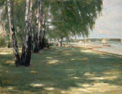 """Max Liebermann """"Der Garten des Künstlers in Wannsee"""" 90 x 70 cm"""
