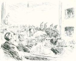 """Max Liebermann """"Das Symphoniekonzert"""" 30 x 24 cm"""