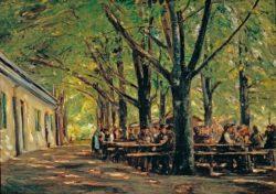 """Max Liebermann """"Biergarten in Brannenburg"""" 105 x 71 cm"""