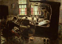"""Max Liebermann """"Der Weber"""" 78 x 57 cm"""