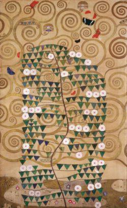 """Gustav Klimt """"Der Lebensbaum mit blühendem Strauch"""" 120 x 195 cm"""