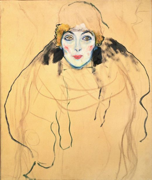 """Gustav Klimt """"Damenbildnis en face (Frauenkopf)"""" 56 x 67 cm 1"""
