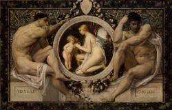 "Gustav Klimt ""Idylle"" 74 x 50 cm"
