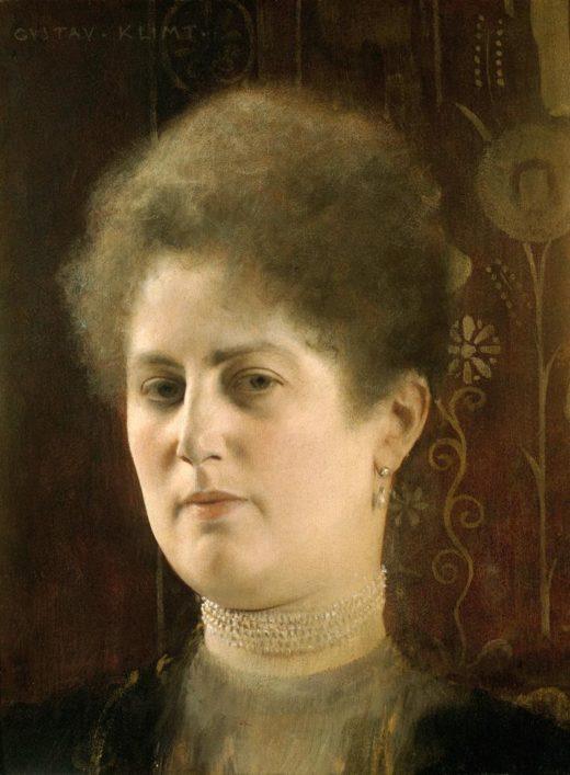 "Gustav Klimt ""Damenbildnis (Bildnis Frau Heymann)"" 23 x 39 cm 1"