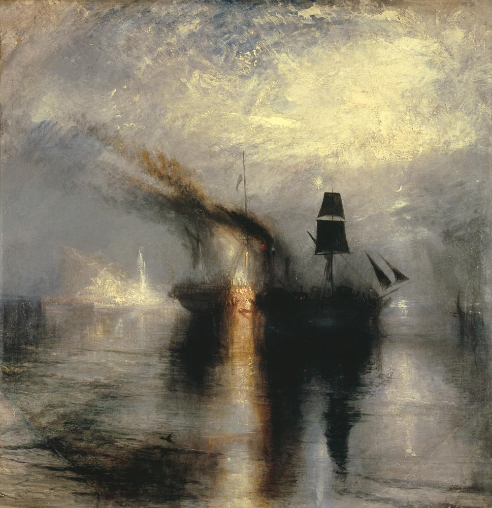 "William Turner ""Frieden Bestattung auf See"" 87 x 87 cm"