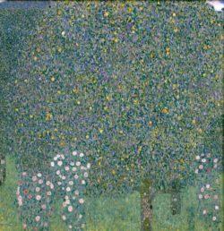"""Gustav Klimt """"Rosensträuche unter Bäumen"""" 110 x 110 cm"""