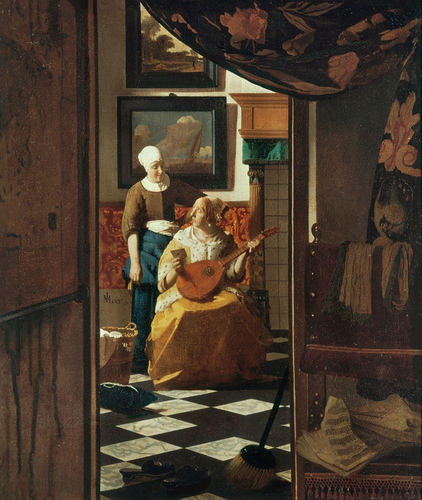 """Jan Vermeer """"Der Liebesbrief"""" 39 x 44 cm"""