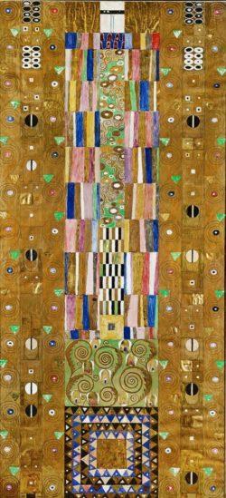 """Gustav Klimt """"Dekoratives Panneau (Der Ritter)"""" 91 x 139 cm"""