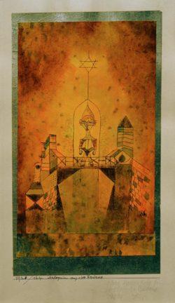 """Paul Klee """"Arlequin auf der Brücke"""" 15 x 26 cm"""