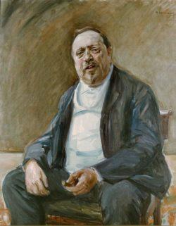 """Max Liebermann """"Bildnis Alfred von Berger"""" 92 x 111 cm"""