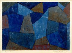 """Paul Klee """"Felsen in der Nacht"""" 36 x 28 cm"""